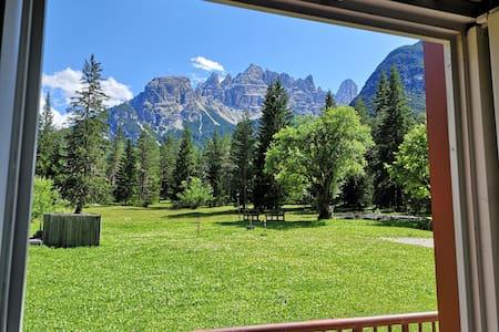 Suggestive place in the Dolomites. Cortina / Dobbiaco
