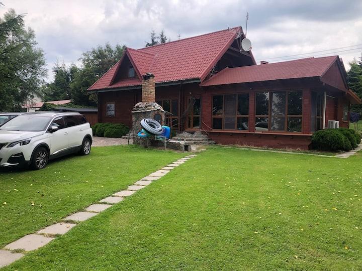 Dom drewniany jezioro Tałty z dostępem do jeziora
