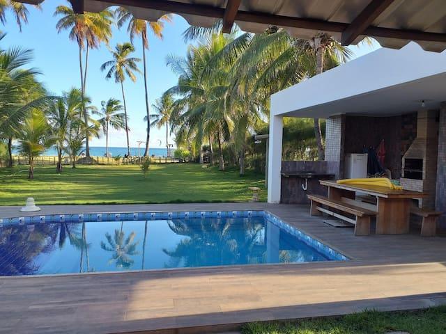 casa de praia, frente mar. guarajuba