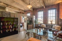 Warehouse loft living at its finest, with an amazing view of Downtown Pittsburgh and the Strip District.