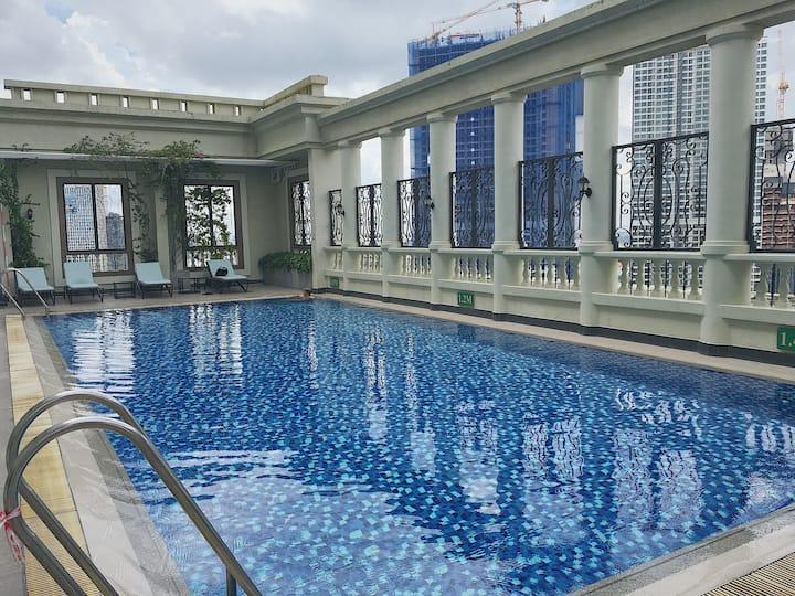Luxury modern 1br studio+FREE rooftop pool @Manor2