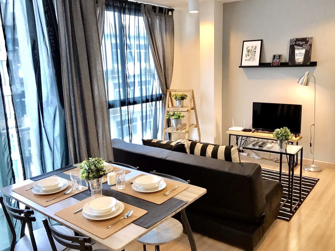 Living Room & Dining Table