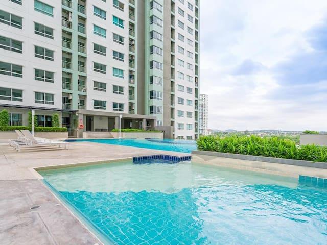 Large Swimming Pool on 5th floor