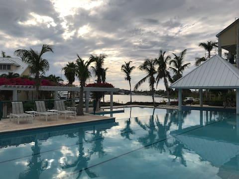 Sunsets in Paradise—open, modern condo on marina!