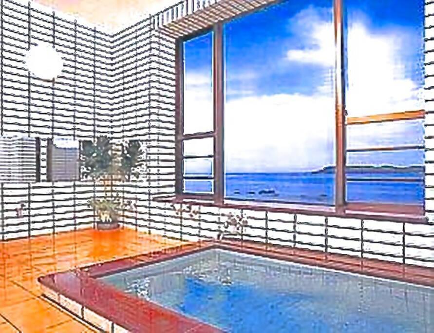 オーシャンビューの大浴場もご利用頂けます。旅の疲れを癒して下さい。