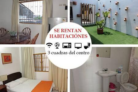 Confortable habitación con wifi, Ventilador, Baño