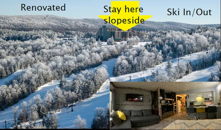 Renovated slope side/view, ski in/out, 2216,slps 6