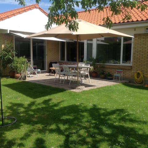 Family villa with private garden