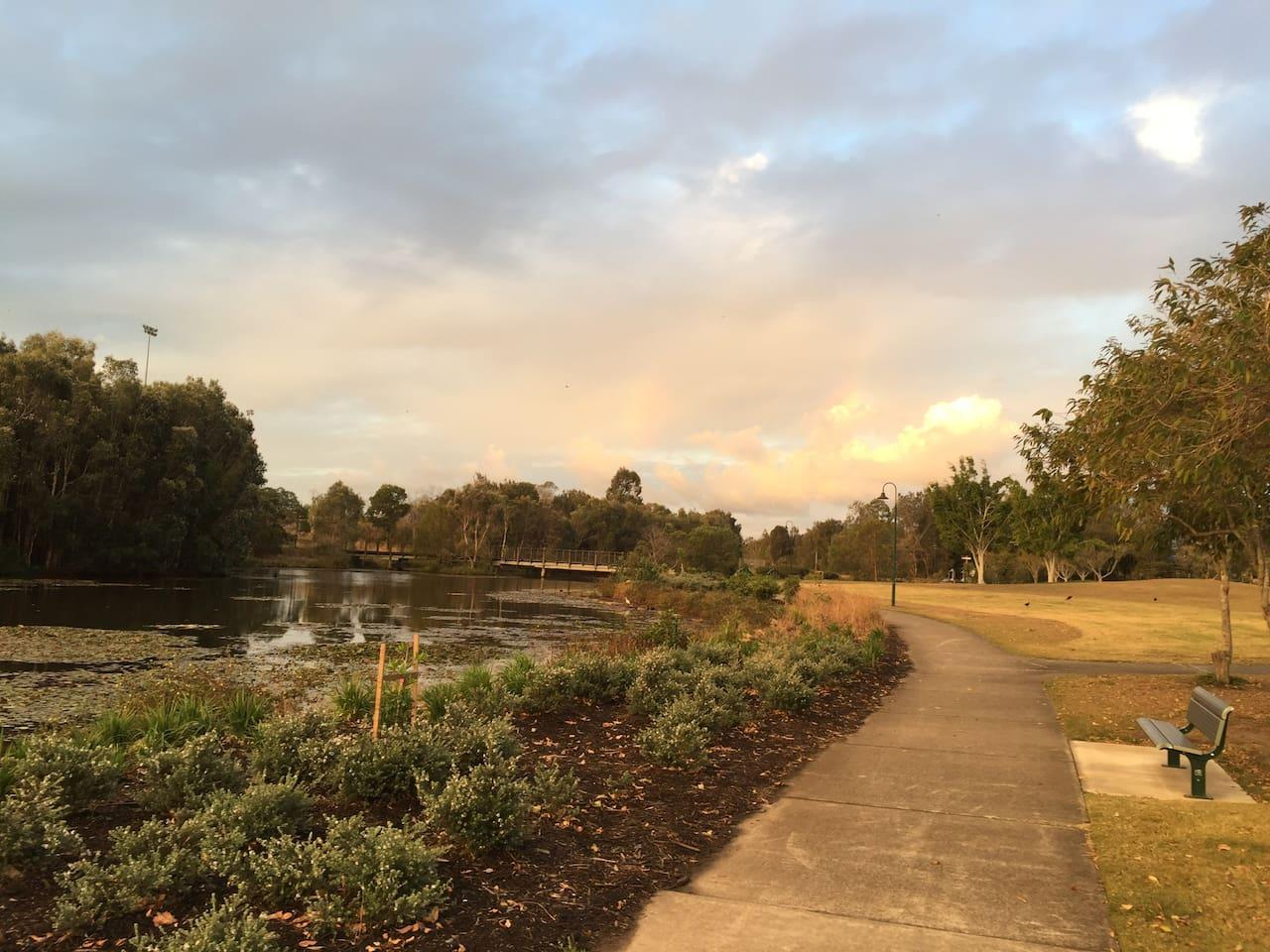 Enjoy the walkways around our Lake!