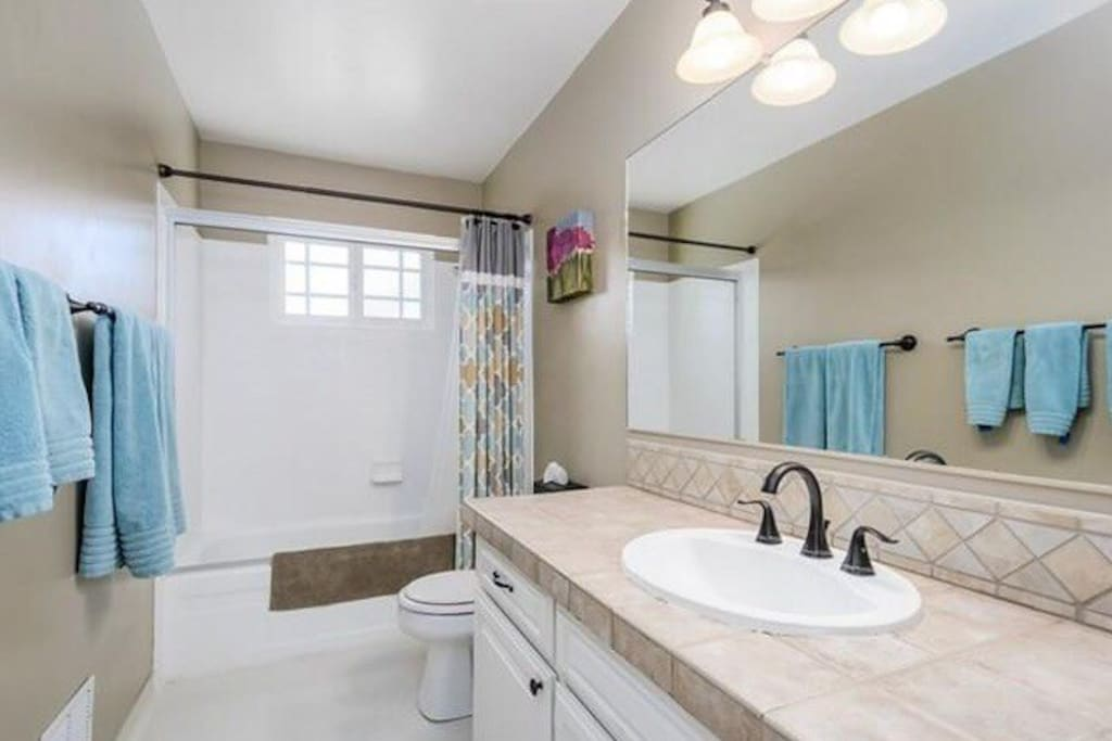 Hallway Bathroom (this is the one you will share).