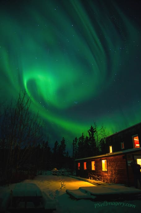 On-site Northern Lights viewing in the winter