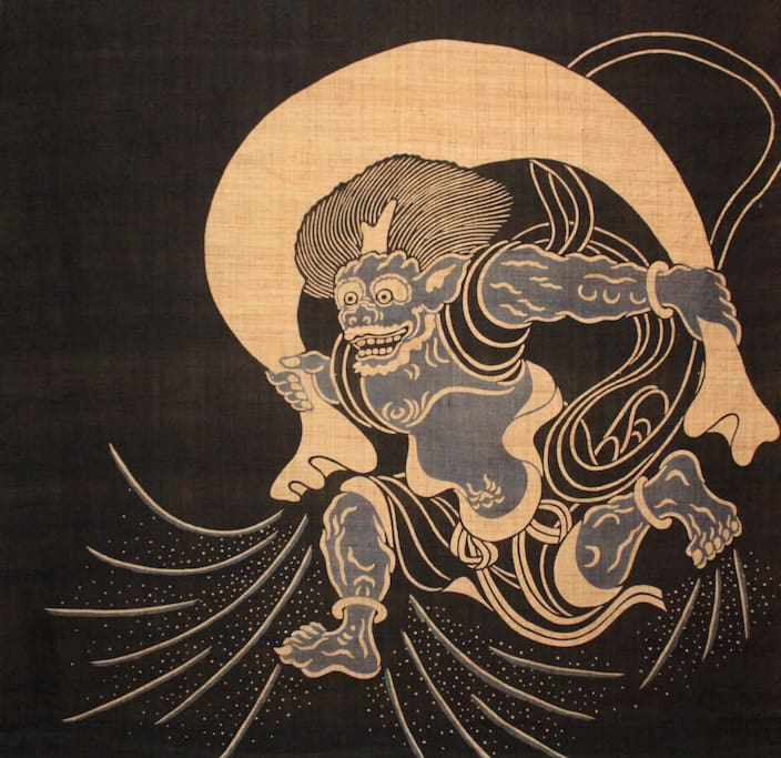 This picture is Fujin, we Japanese worship as God of Wind.
