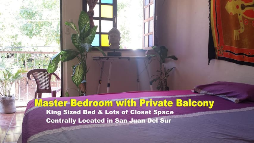 Casa Coco Mar -  Master Bedroom & Private Balcony - San Juan del Sur - Rumah bandar