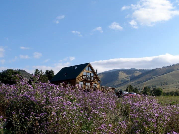 Large 6+ Bedroom Mountain Cabin On Private Ranch