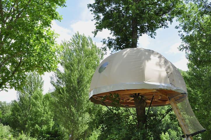 Cabane dans le chêne, nid douillet et nuit bohème! - Mostuéjouls - Casa na árvore