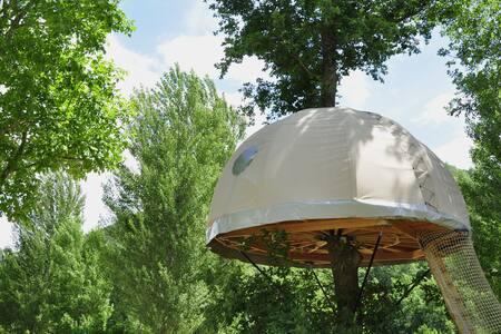 Cabane dans le chêne, nid douillet et nuit bohème! - Mostuéjouls
