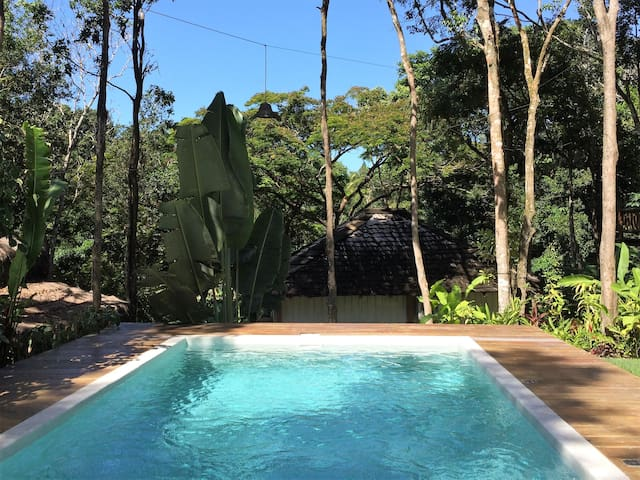 Bah302 - Cosy bungalows & pool in tropical garden