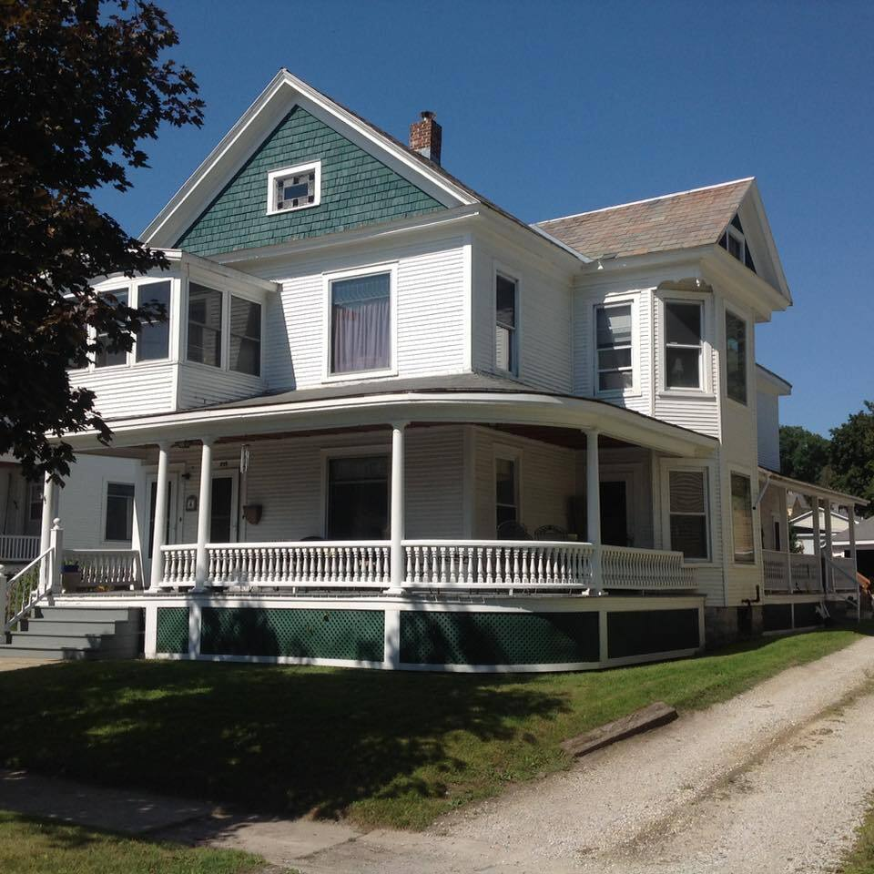 Victorian two family home with entire upstairs available for rent.  Separate entrance.  Parking in rear.
