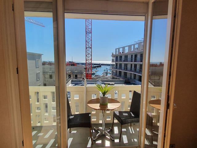 Grand appartement 4-5 personnes vue mer au Havre