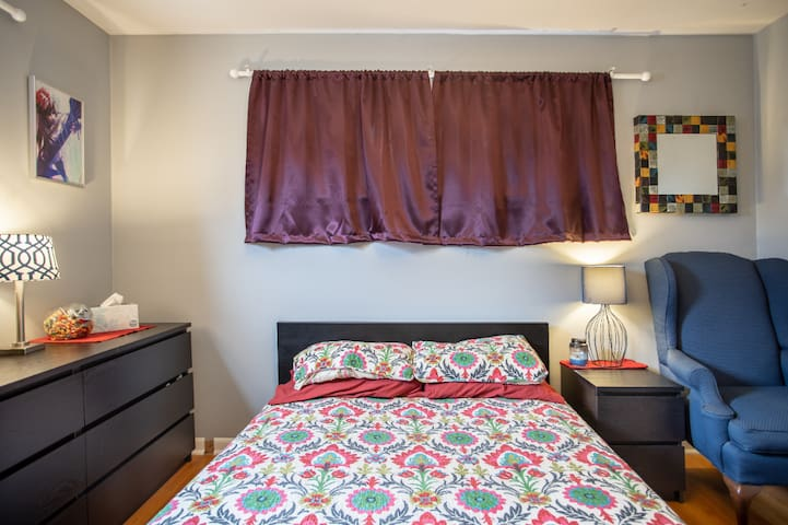 Comfy Room in South KC with no cleaning fee!
