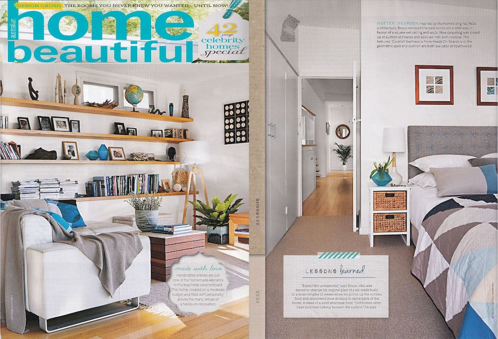Home was featured in 'Home Beautiful' magazine