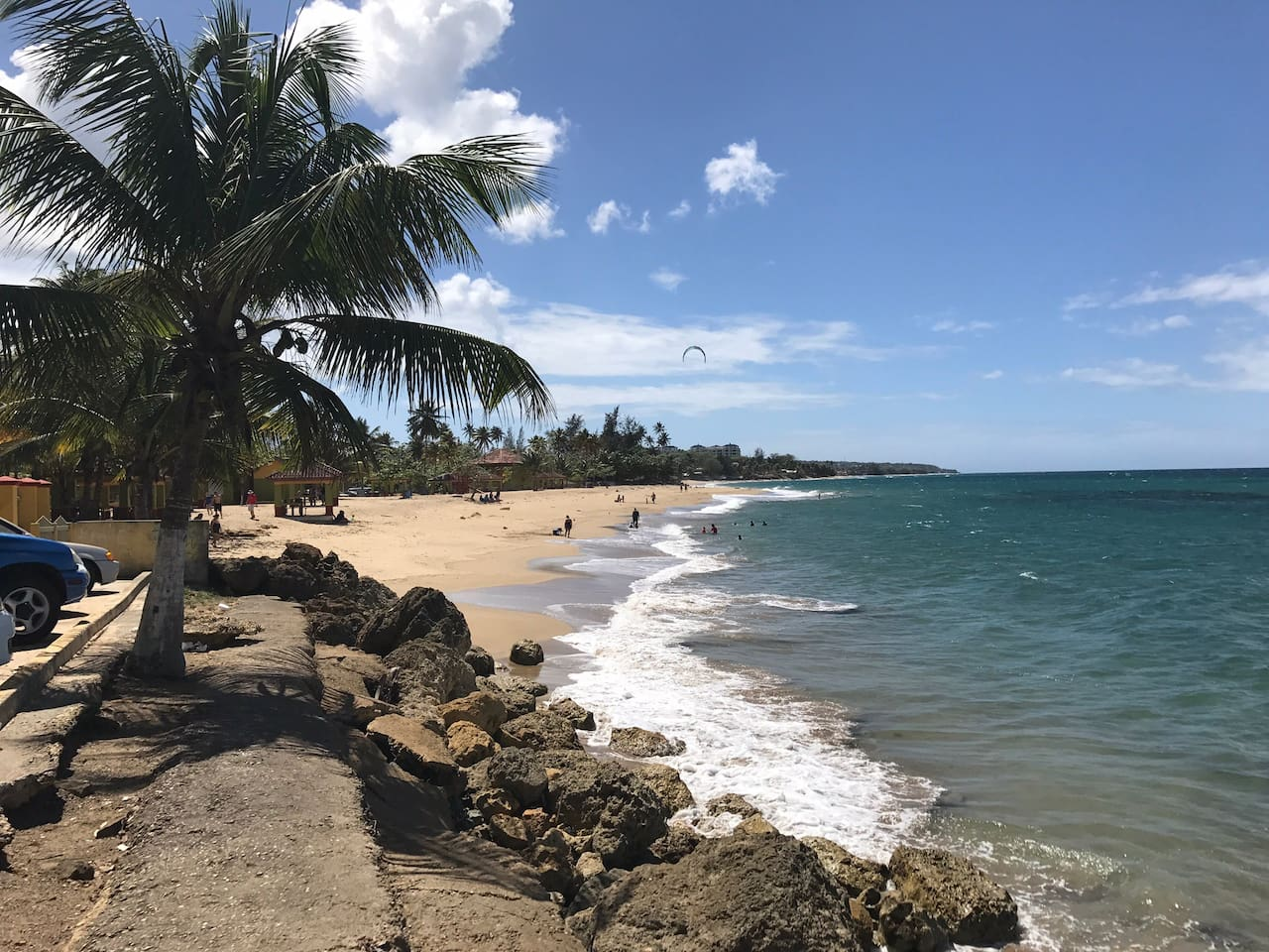 Aguada Beach 5 minute drive.