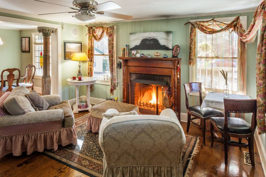 Parlor w/ Fireplace