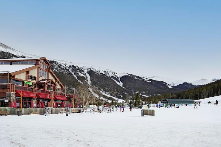 Cozy ski-in/ski-out pet friendly condo