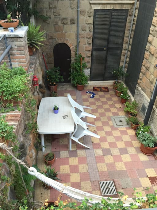Our garden which included a hammock, flowers, spices and teas..a great place to relax after a day of travels