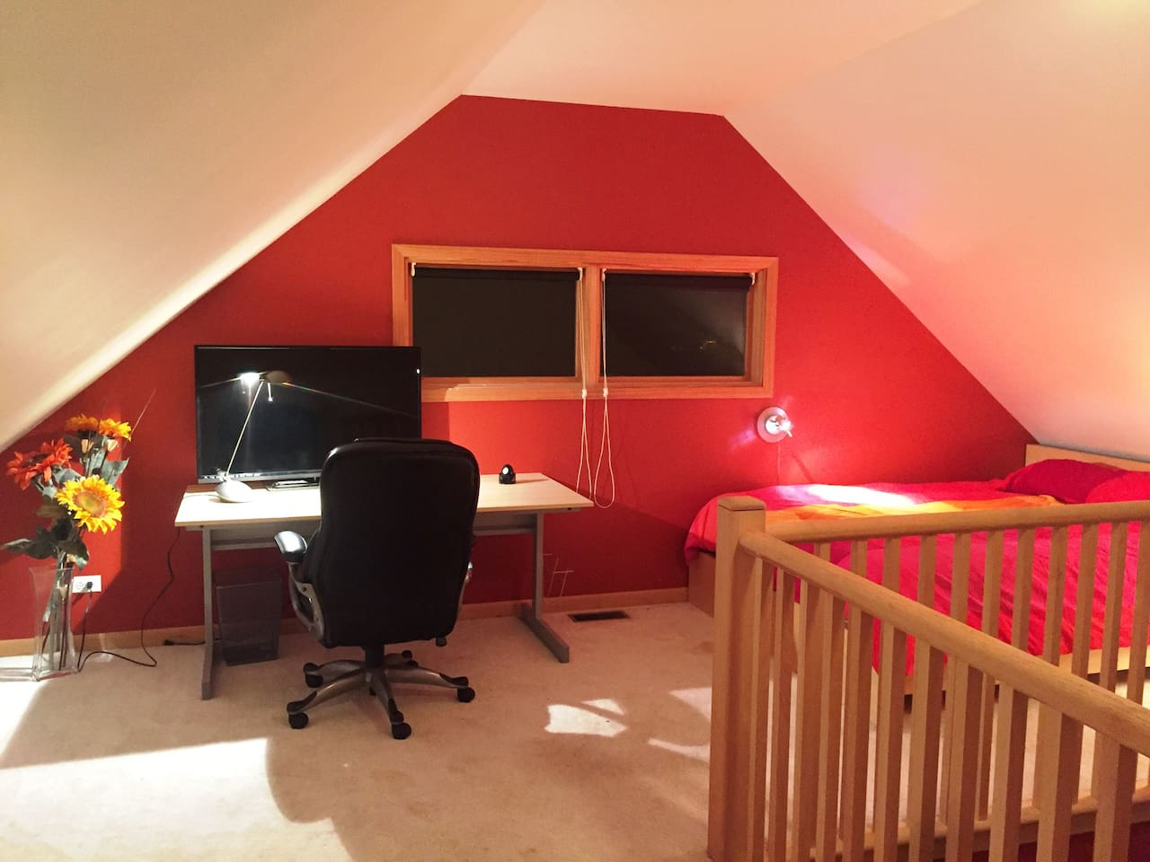 Your private loft with desk area