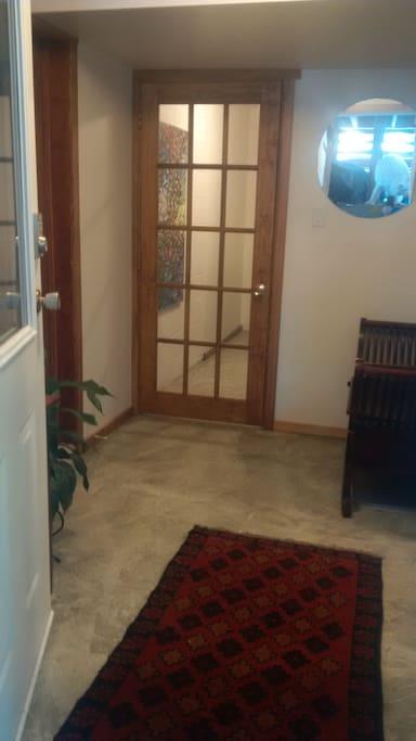 Our basement entrance.