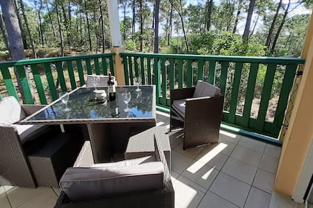 Peaceful apartment 4/5 pers in pines forest