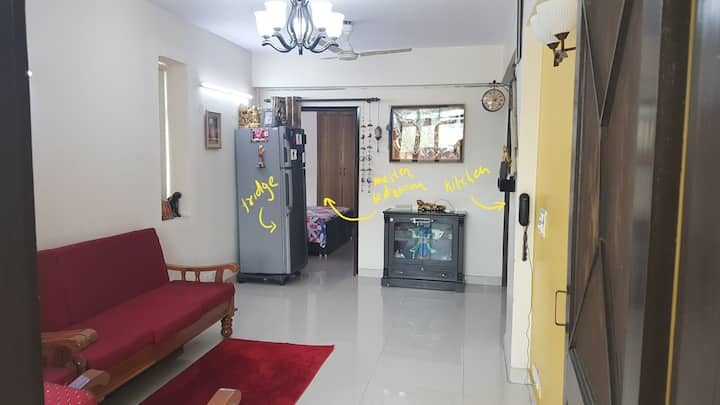 Private sunny cozy 1bhk apartment