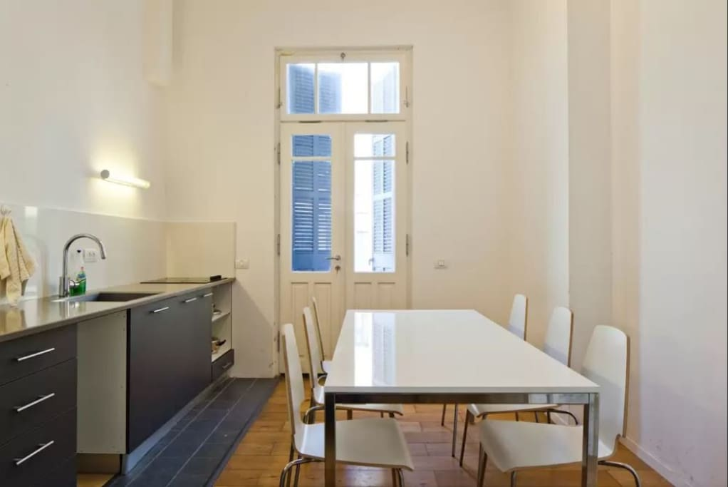 Kitchen with dinner table
