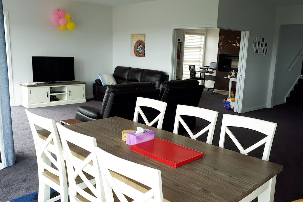 Dinning table and living room