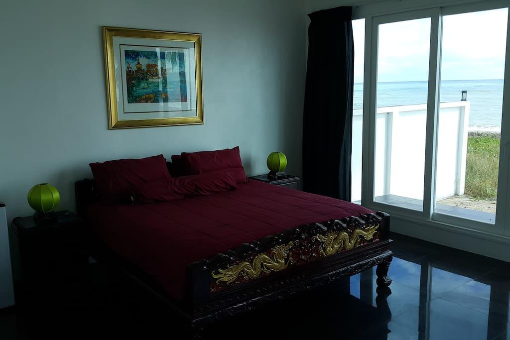 King Size Teak bed with Pillow top Matress