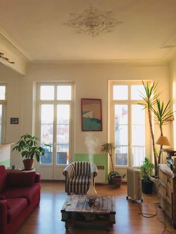 Chambre privée dans bel appartement lumineux