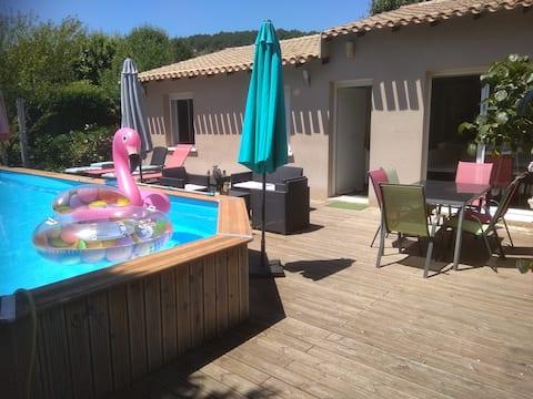 villa entiere - 2 chambres  avec piscine et spa