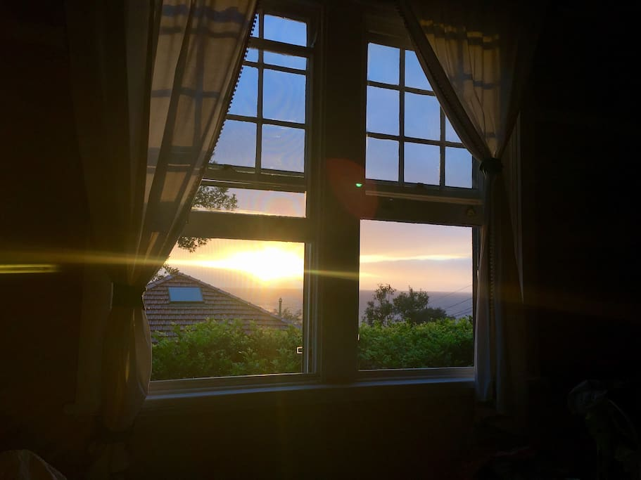 Sunrise from bed