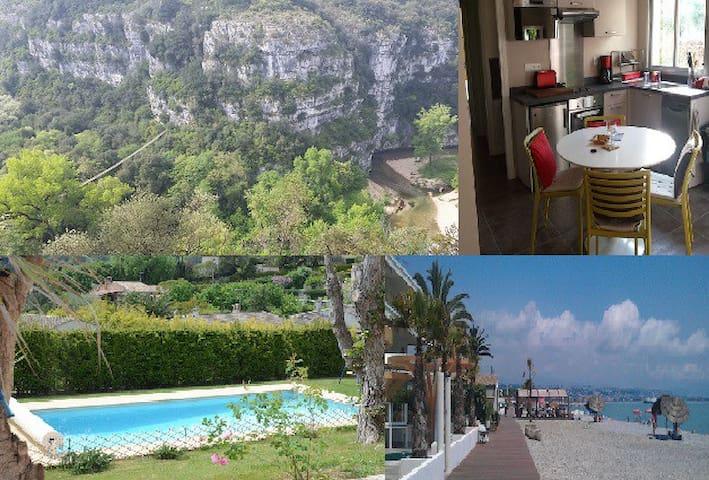 2-room Villa appt on the Riviera, quiet, 2-4 pers. - La Colle-sur-Loup - Byt