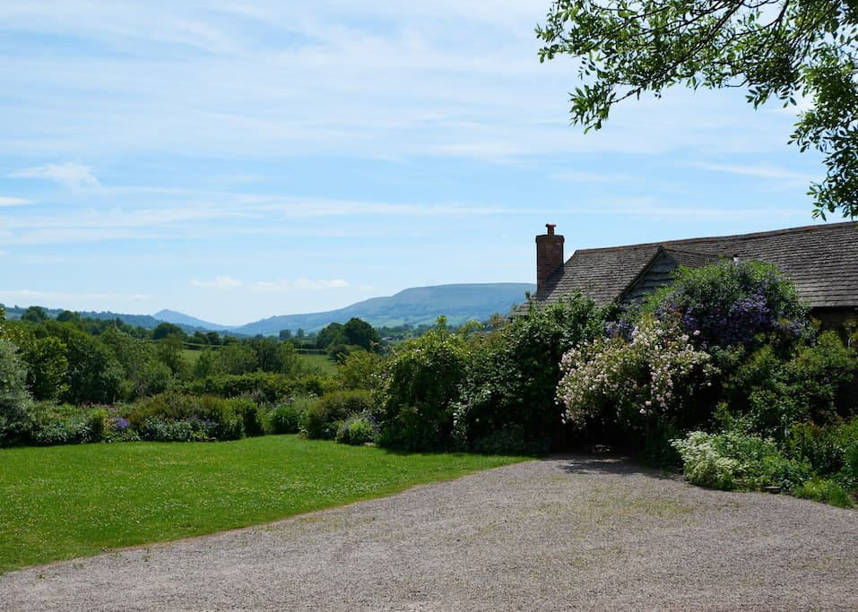 The Barn with beautiful views of the Black mountains.