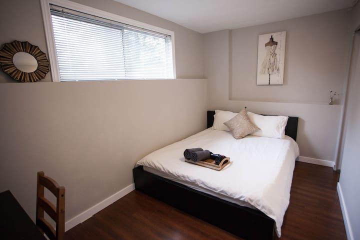 Bedroom 2 with one queen bed
