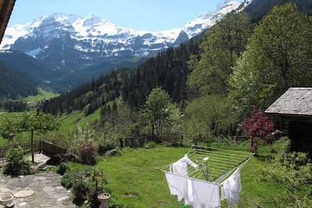 Beautiful studio with splendid view of the Alps - Lenk