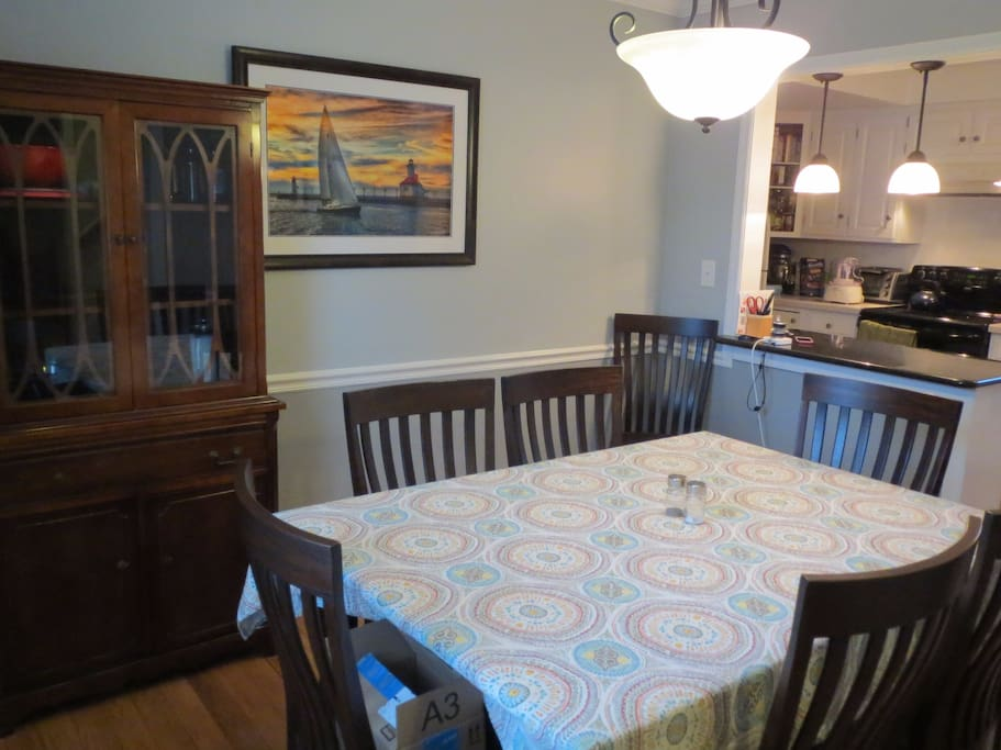 Dining room. Table expands if needed.