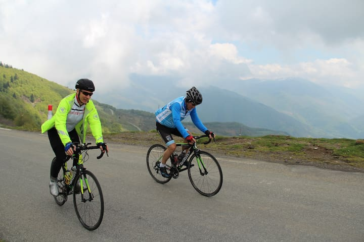 Challenge yourself by cycling up one of the famous TdF cols - we can arrange bike hire.