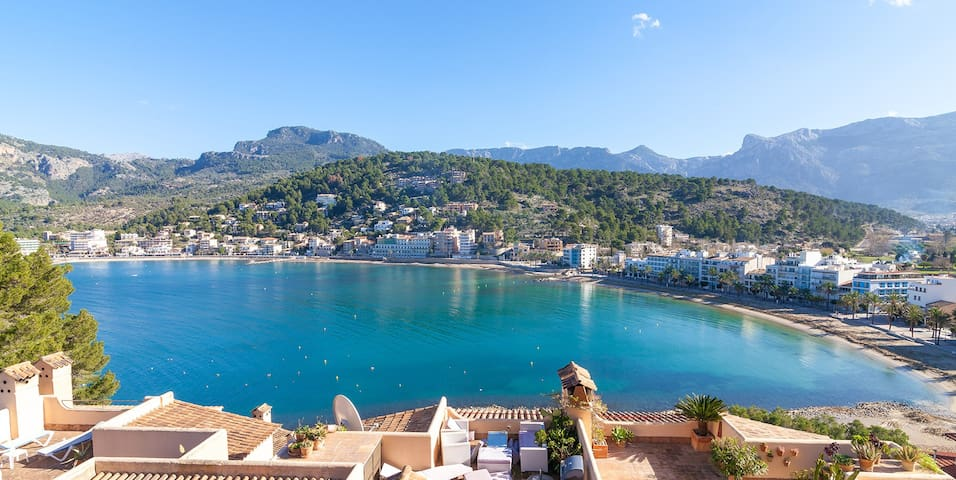Awesome views - Sea and Tramontana mountains in Port de Soller - Port de Sóller - Apartment