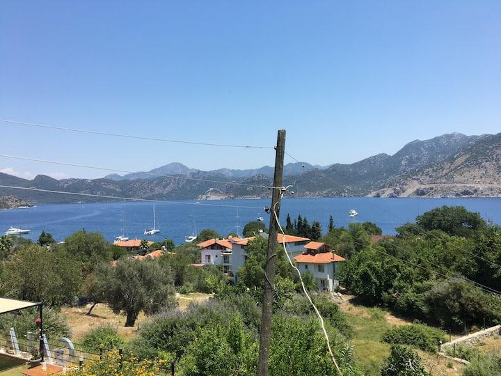 Selimiye Deniz ve Doğa Manzaralı Ev