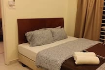 Air-conditioning in 4 bedrooms with king size bed each.