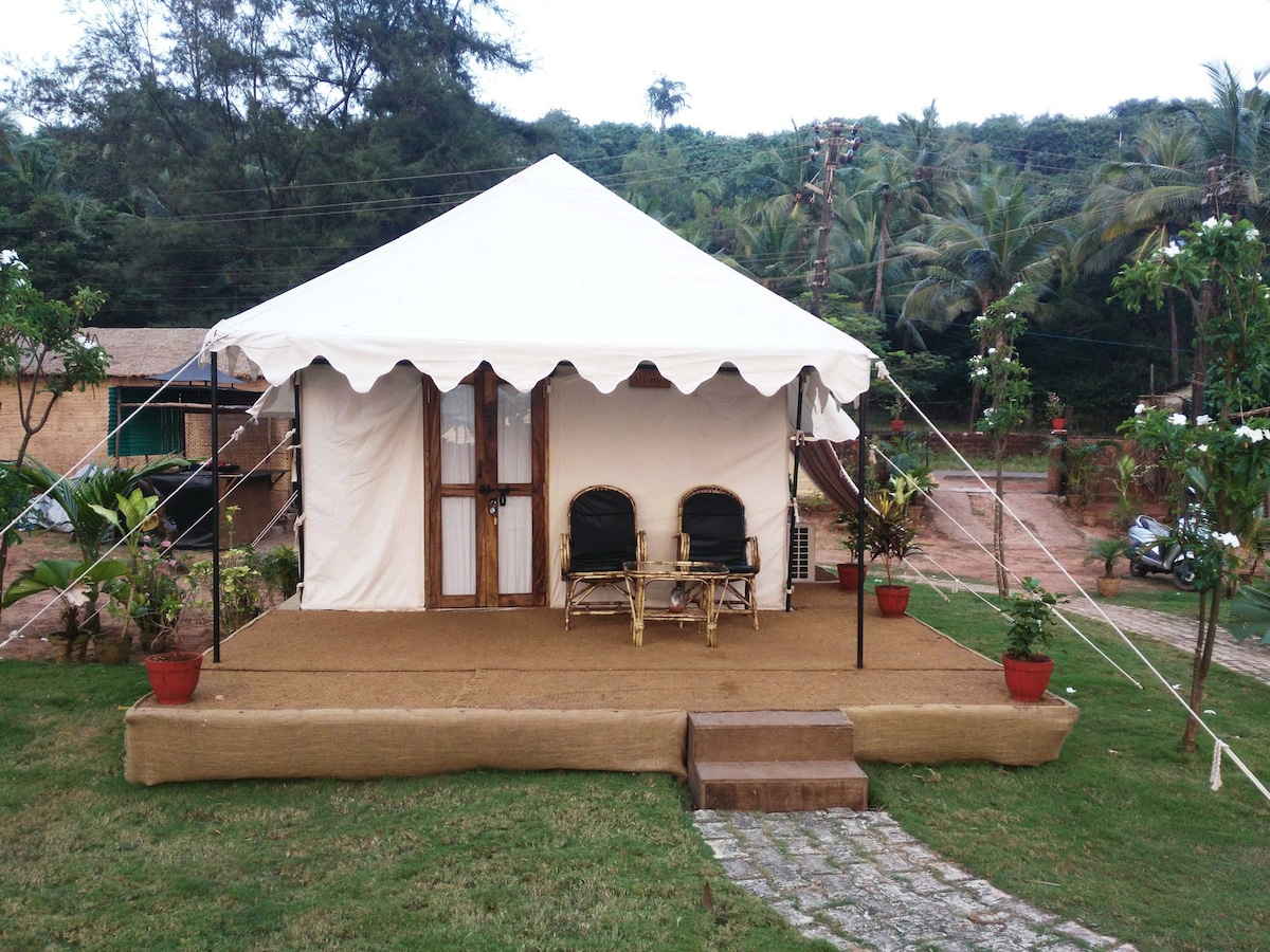 ... Glamorous tent outside for new experience lovers & Glamorous AC tent Mars - Tents for Rent in South Goa Goa India