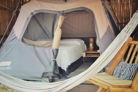 Safe Beach Glamping with a free cocktail